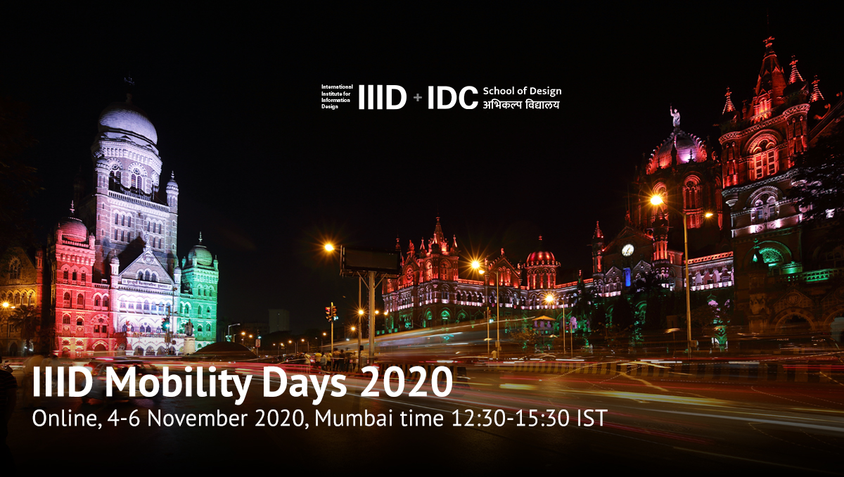 Colourful night image of Mumbai with IIID and IDC logos