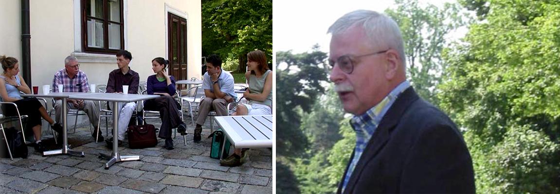 Bob Swinehart with students at the IIID Summer Academy 2002 in Vienna